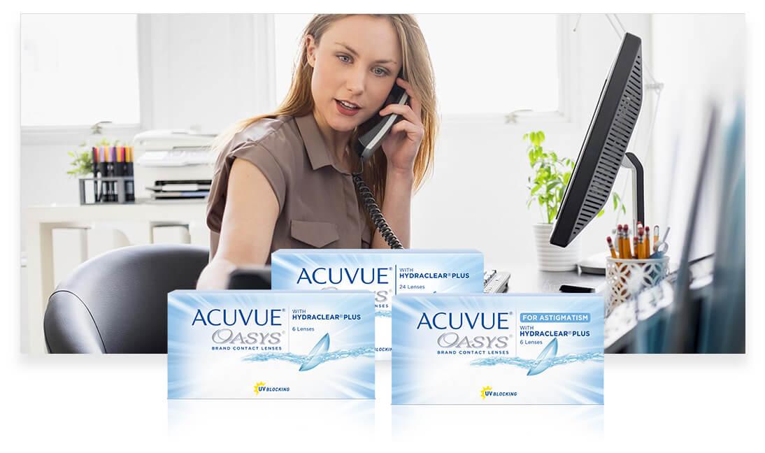 Контактные линзы ACUVUE® для использования в сложных условиях